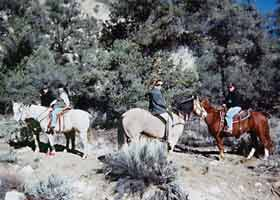 trail riding horseback california